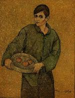 Boy with tray